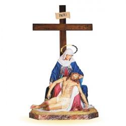 La Vierge et Jésus au pied...